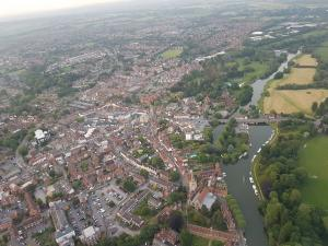 Herald Series: The police helicopter has captured views of the Vale and South Oxfordshire